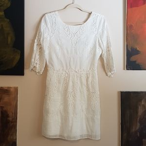 Dolce Vita silk/cotton buttons down lace dress